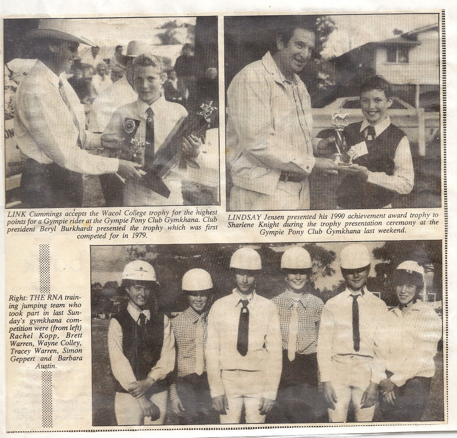 Newspaper article features Gympie Pony Club riders